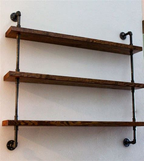 industrial wall wood shelving unit wall shelf industrial shelves rustic