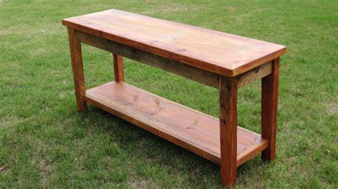 custom sofa table handmade barnwood sofa table by ranch furnishings
