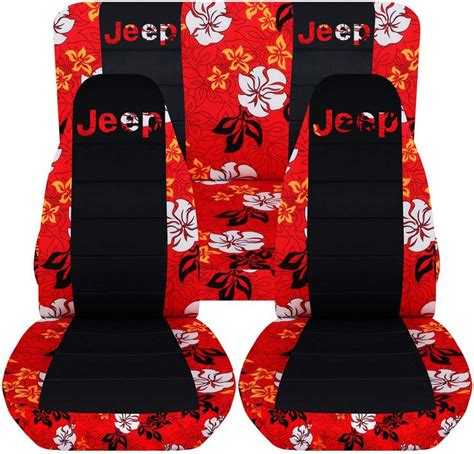 jeep wrangler seat covers hawaiian jeep wrangler tj 1997 to 2006 hawaiian and black seat