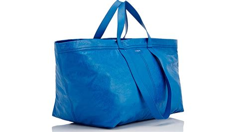 ikea frakta bags balenciaga sells 163 1 705 version of ikea s blue tote bag