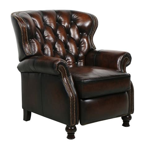 leather reclining chair and new barcalounger presidential ii stetson coffee leather