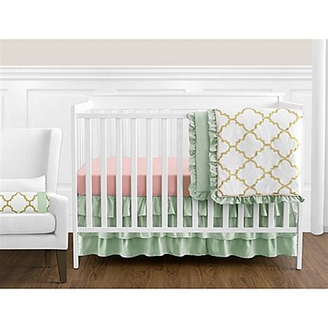 Mint And Coral Crib Bedding Sweet Jojo Designs Crib Bedding Collection In Mint Coral Bed Bath Beyond
