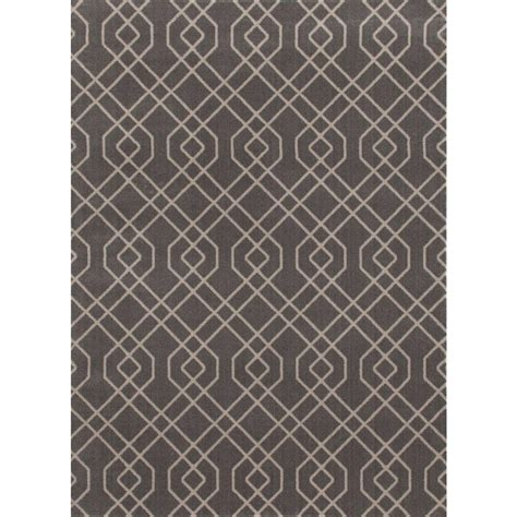 home design 7 x 10 world rug gallery modern trellis design gray 7 ft 10 in