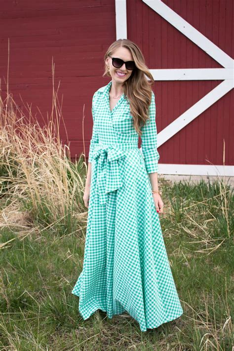 red barn green dress a slice of style