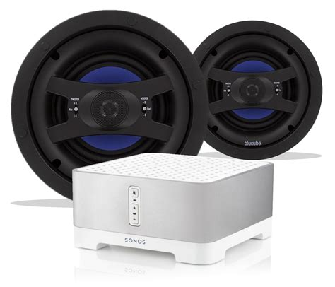 How To Connect Ceiling Speakers To Tv by Sonos Connect Blucube Cxcl 650 Ceiling Speaker Bundle