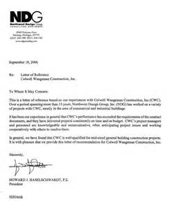 letter of recommendation from northwest design
