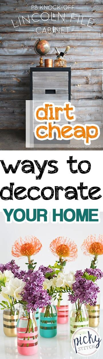 inexpensive ways to decorate your home dirt cheap ways to decorate your home picky stitch