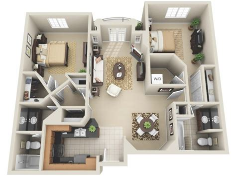 Plan 3d Appartement 4476 by Studio Apartments Los Angeles The Miracle Mile