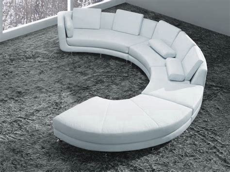 White Curved Sofa White Bonded Leather Curved Sectional Sofa Set Modern Living Room Other Metro By Eurolux