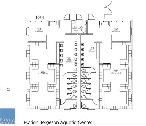 locker room floor plans marian bergeson aquatic center saunders wiant oc