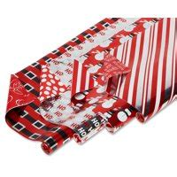 hallmark christmas reversible wrapping paper candy canes 3 pack gift wrap supplies walmart