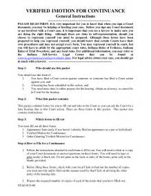 Motion For Continuance Template by Best Photos Of Exle Of Motion For Continuance Motion