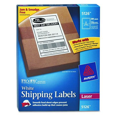 Label We 2 by Avery Dennison Shipping Label Postcard Inkjt 4 25x5