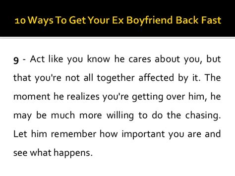 10 Ways To Get A To Notice You At School by 10 Ways To Get Your Ex Boyfriend Back Fast