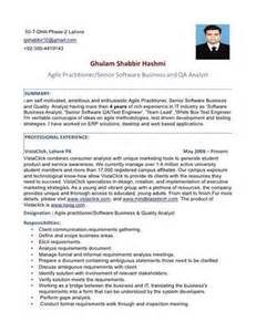 agile business analyst resume exle