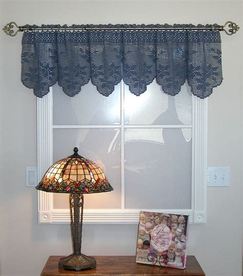 Crocheted Valance crochet valance home curtains