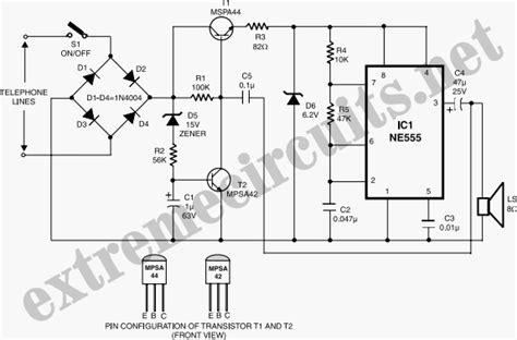 resistors in telephone circuits for telephones circuit diagram