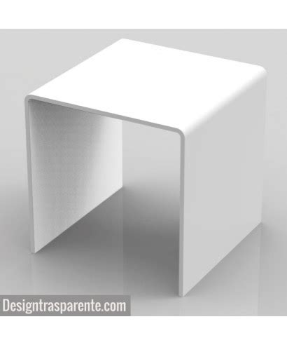 sgabelli plexiglass sgabello in plexiglass bianco per doccia