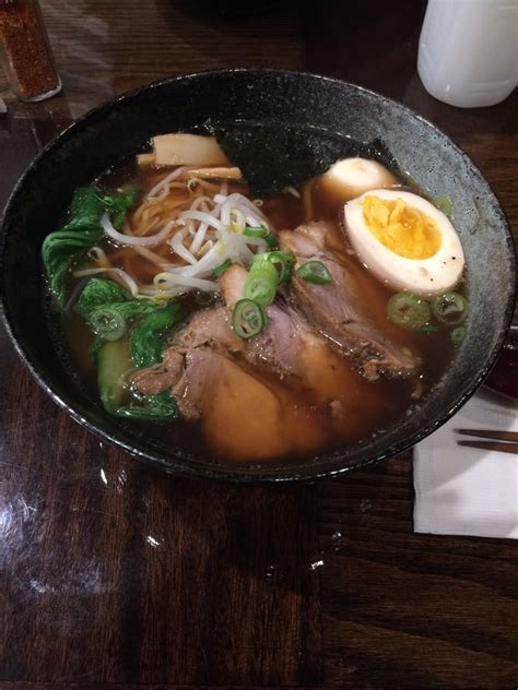 Ramen Hashi shoyu ramen it only comes with one half egg but i had two halves since my doesn t