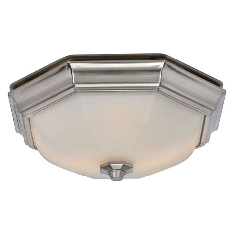 Hunter Huntley Decorative Brushed Nickel Medium Room Size Bathroom Exhaust Fans With Lights