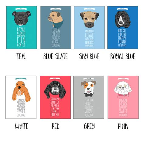 characteristics of dogs personalised portrait with traits by well bred design notonthehighstreet