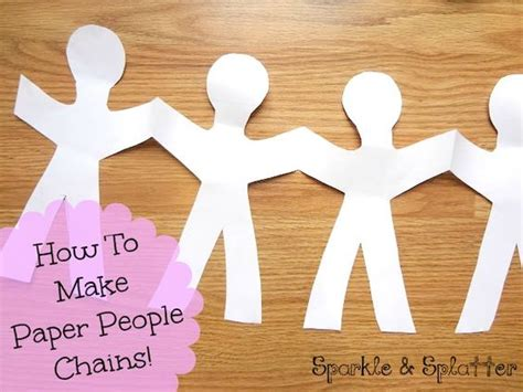 How Do You Make A Paper Doll Chain - how do you make a paper chain 28 images how to make a
