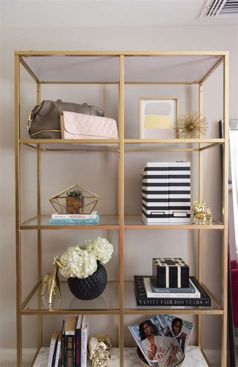 diy gold marble ikea bookcase hack home beauty room