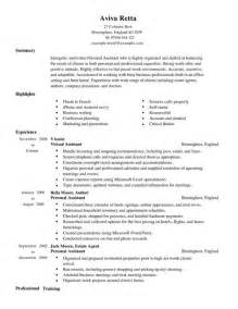 Personal Assistant Resume Exles by Personal Assistant Cv Exle For Admin Livecareer