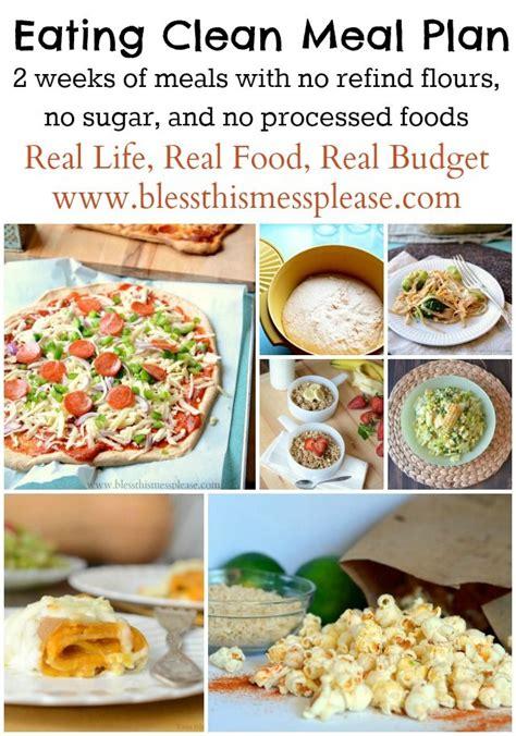 clean dinner clean meal plan summer menu clean