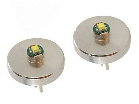 Mag Light Led Bulb Two Hqrp 3w Bi Pin Led Bulb Module For Maglite Krypton And Xenon 2aa Flashlight Ebay