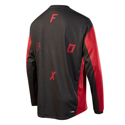 red and black ls dres fox indicator ls moth red black snowboard zezula