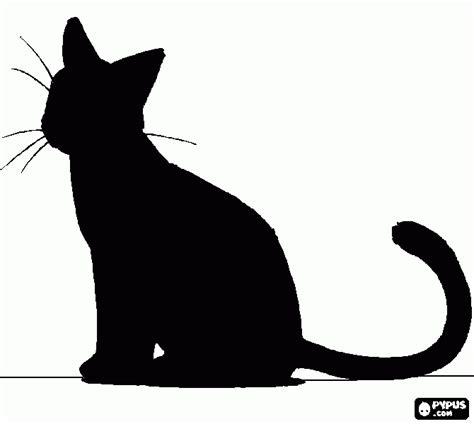 imagenes en negro de halloween gato negro para colorear gato negro para imprimir
