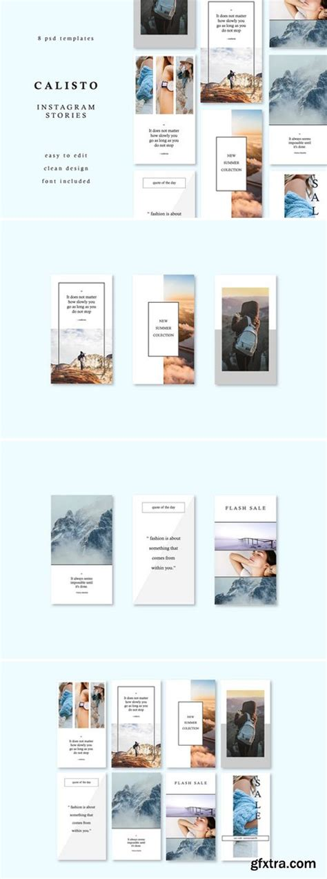 story website themes cm calisto instagram story templates 2238918 187 vector