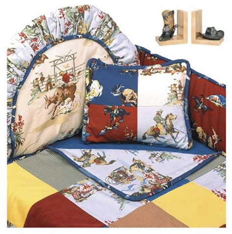 Rodeo Western Themed Crib Bedding Set Hollywood Bumper Cowboy Themed Crib Bedding