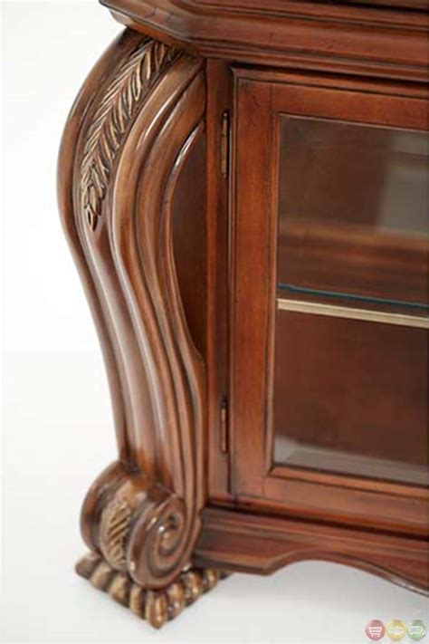 are curio cabinets out of style michael amini oppulente sienna spice traditional style