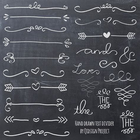doodle text chalk doodle text divider swirly clip for