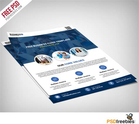 brochure design templates free psd multipurpose business flyer free psd template