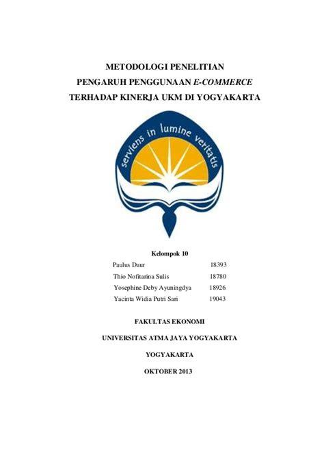 skripsi akuntansi e commerce proposal kelompok mata kuliah metodologi penelitian