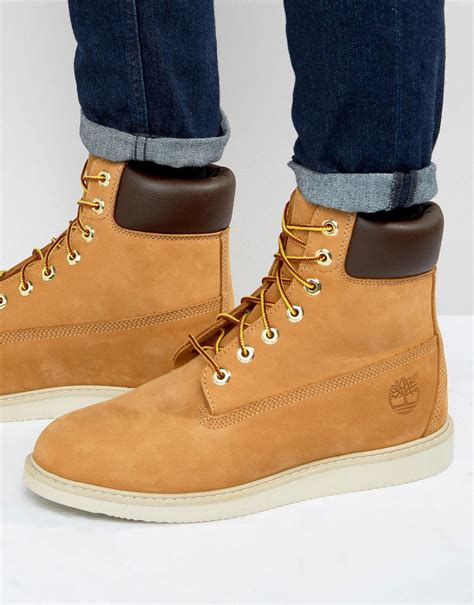 timberland wedge boots timberland newmarket wedge boots in brown for lyst