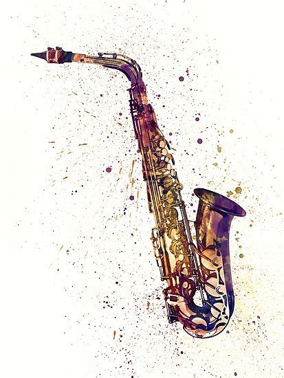tattoo printer paper michaels quot saxophone abstract watercolor quot photographic prints by