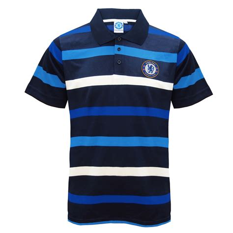 Polo Official Chelsea 007 chelsea fc official football gift mens striped polo shirt blue