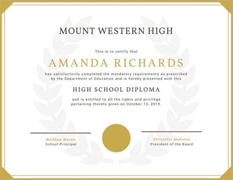 high school diploma certificate fancy design templates high school diploma certificate fancy design templates
