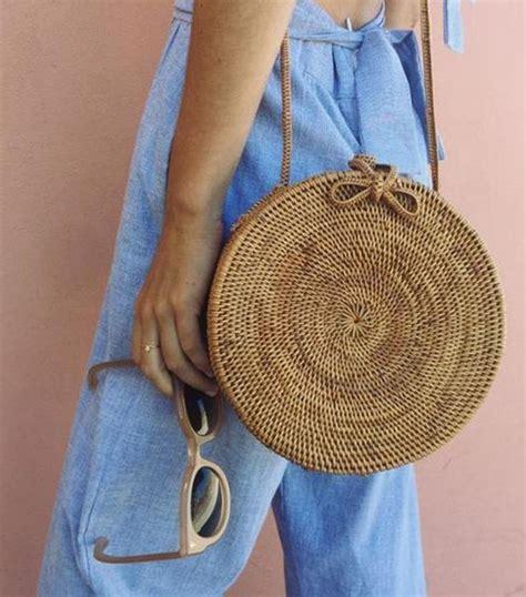 rattan bali straw bag accessories  bag woven