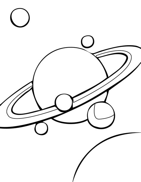 Saturn Coloring Page Handipoints Saturn Coloring Pages