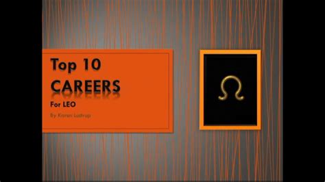 top 10 psychopath professions top 10 professions with fewest top 10 careers for leo by karen lustrup youtube