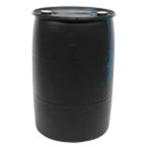 55 gal black industrial plastic drum pth0934 the home depot