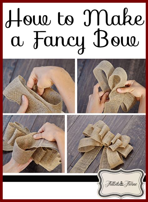 How To Tie A Decorative Bow diy inexpensive fall wreath and fancy bow tidbits twine