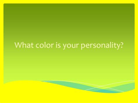 what color is your personality what color is your personality
