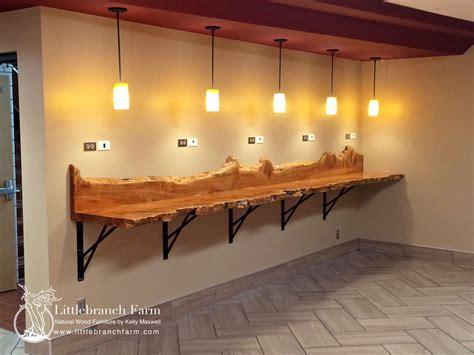 Farm Table Kitchen Island natural wood countertops live edge wood slabs