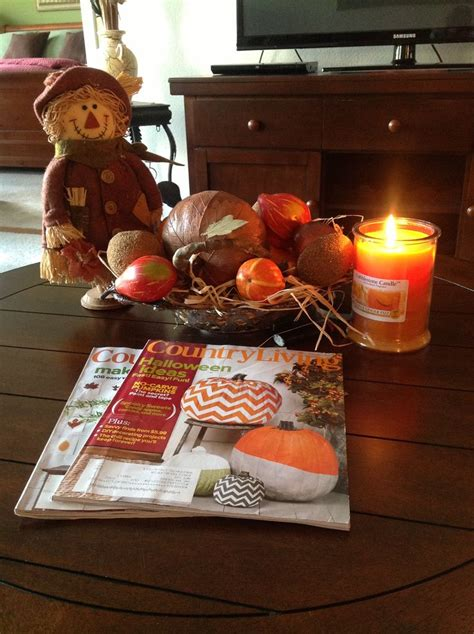 coffee table decorations 43 fall coffee table d 233 cor ideas digsdigs